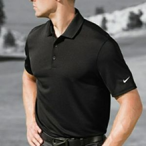 Nike Golf Dri-Fit Polo Shirt Black Size Small
